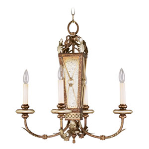 Bristol Manor Palacial Bronze Four-Light Chandelier