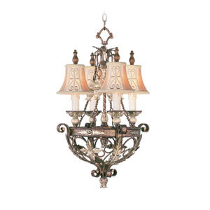 Pamplona Palacial Bronze Four-Light Chandelier