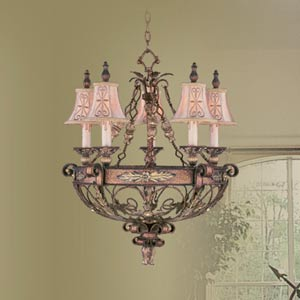 Pamplona Palacial Bronze Five-Light Chandelier