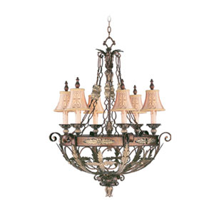 Pamplona Palacial Bronze Six-Light Chandelier