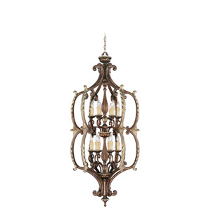 Seville Palacial Bronze Twelve-Light Lantern Pendant