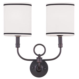 Bronze Two-Light Wall Sconce