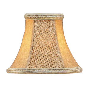 Tan Suede Bell Clip Chandelier Shade
