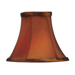 Brown Silk Bell Clip Chandelier Shade