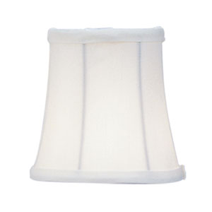 Ivory Bell Clip Chandelier Shade