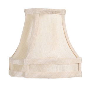 Champagne Fancy Square Silk Clip Chandelier Shade