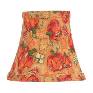 Pumpkin Harvest Silk Bell Clip Chandelier Shade