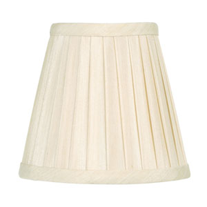 Off White Pleat Empire Silk Clip Chandelier Shade