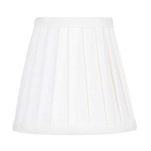 White Pleat Empire Silk Clip Chandelier Shade