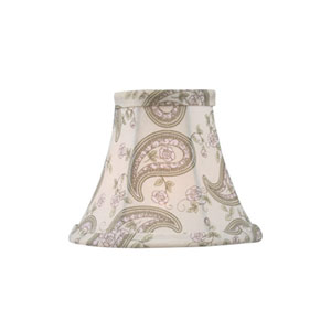 Paisley Design Silk Bell Clip Chandelier Shade