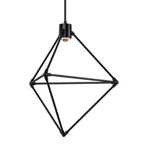 Candora Black 19-Inch LED Chandelier