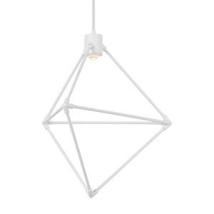 Candora White 19-Inch LED Chandelier