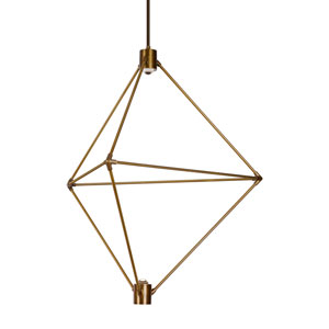 Candora Aged Brass 29-Inch LED Chandelier