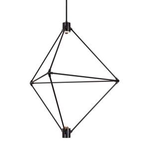Candora Black 29-Inch LED Chandelier