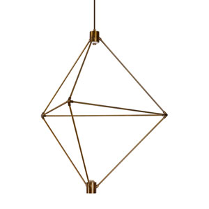 Candora Aged Brass 34-Inch LED Chandelier