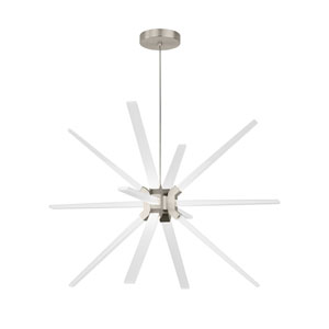 Photon Satin Nickel 34-Inch LED Chandelier