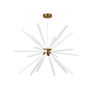 Photon Aged Brass 48-Inch LED Chandelier