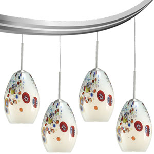 Mini-Monty Opal Four-Light Curved Monorail Kit