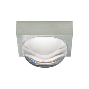 Sphere Satin Nickel LED Flush Mount with Cast Clear Glass