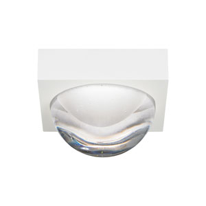 Sphere Rubberized White LED Flush Mount with Cast Clear Glass