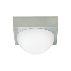Sphere Satin Nickel LED Flush Mount with Frost Glass