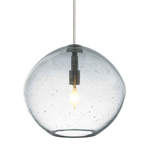Isla Satin Nickel One-Light Seven-Inch Mini Pendant with Clear Glass