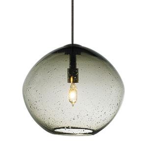 Isla Bronze One-Light Seven-Inch Mini Pendant with Smoke Glass
