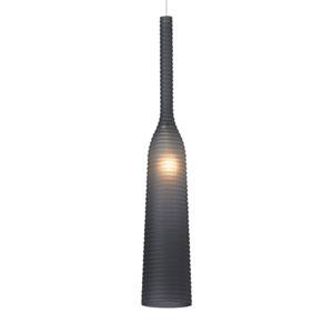 Adara Satin Nickel Smoke LED Pendant