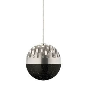 Sphere Satin Nickel Smoke Low Voltage LED Mini Pendant