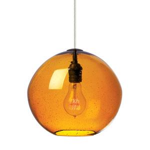 Isla Bronze LED Mini-Pendant with Amber Glass