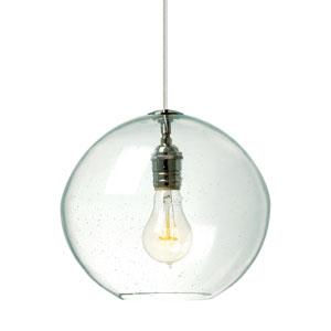 Isla Satin Nickel LED Mini-Pendant with Clear Glass