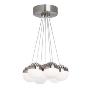 Sphere Satin Nickel 7-Light LED Chandelier