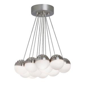 Sphere Satin Nickel 11-Light Dimming  LED Chandelier