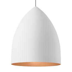 Signal Grande Rubberized White and Copper LED Pendant