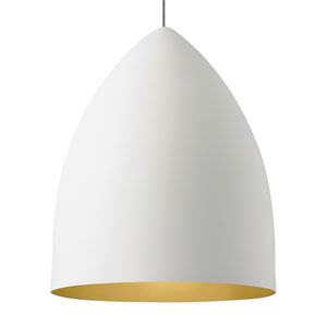 Signal Grande Rubberized White and Gold LED Pendant