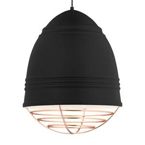 Loft Grande Rubberized Black and White LED Pendant