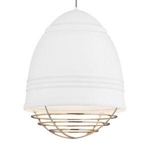 Loft Grande Rubberized White LED Pendant