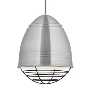 Loft Brushed Aluminum and White LED Pendant