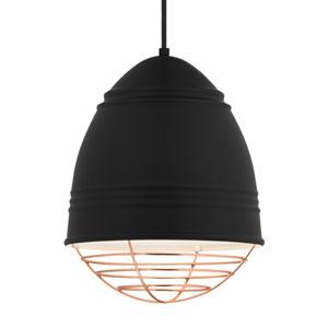 Loft Rubberized Black and White LED Pendant