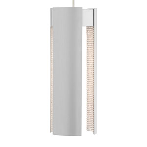 Dolly Grande Satin Nickel and Clear Crystal LED Mini Pendant