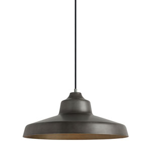 Zevo Fossil Gray One-Light 18-Inch Pendant
