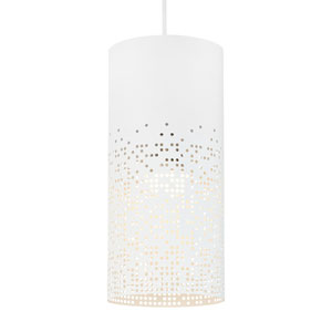 Crossblend White One-Light 6-Inch Mini Pendant