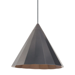Astora Gun Metal One-Light 12-Inch Pendant