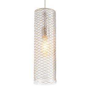 Lania Satin Nickel One-Light 5-Inch Mini Pendant