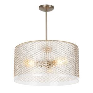 Lania Satin Nickel 20-Inch LED Pendant