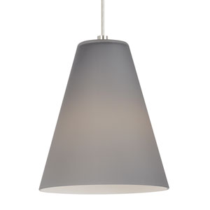 Mati Satin Nickel One-Light 8-Inch Mini Pendant with Smoke Shade