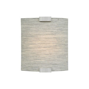 Omni Silver One-Light Four-Inch LED Wall Sconce with Pewter Shade