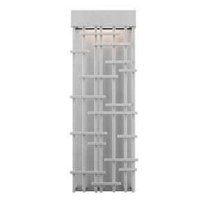 Pier Silver One-Light LED Medium Outdoor Wall Sconce