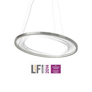 Interlace Satin Nickel One-Light LED Pendant