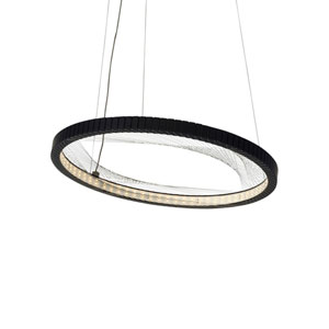 Interlace Rubberized Black 18-Inch LED Chandelier